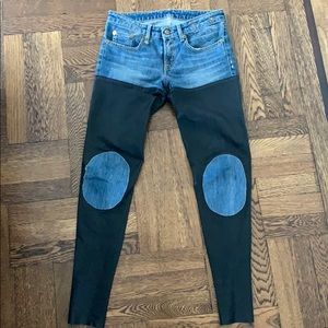 R13 leather jeans